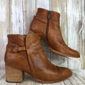 Isola 8M Soft Brown Leather Ankle Boots